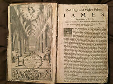 1701 The Holy Bible - King James - Old & New Testament with Apocrypha - Folio