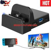 New Travel Portable HDMI TV Docking Station Charging Dock for Nintendo Switch US