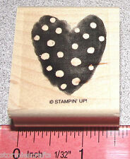 Heart Rubber Stamp with Polka Dots Single by Stampin Up Something New to Love