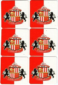 SUNDERLAND A.F.C. Pack of Official Crested Beer Mats / Coasters FREE POST UK