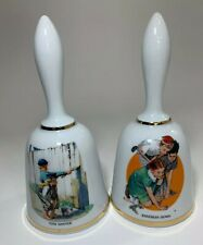Norman Rockwell Porcelain Limited Edition Bell Series Tom Sawyer Set Of 2