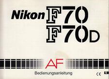 Nikon Bedienungsanleitung für F70 / F70D - Anleitung