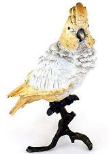 Große Wiener Bronze - Kakadu - Dekofigur - Vogelskulptur - handbemalt