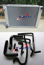 For HOLDEN Commodore VN VP VR VS V8 5.0L SS 304 Aluminum radiator & hose BLACK