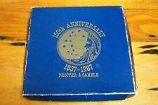 Vintage 1987 - set of 4 Metal Coasters - 150th Anniversary Procter & Gamble