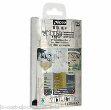 PEBEO RELIEF VITREA 160 OUTLINER 3 PACK PROJECT IDEAS DISCOVERY SET- GLASS PAINT