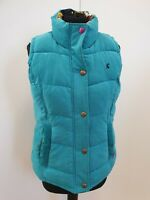 O362 WOMENS JOULES BLUE PUFFER QUILTED BODYWARMER GILET UK 12 US 8