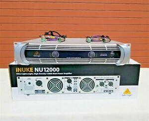 Behringer NU12000 iNuke 12000W 220-240V Power Amp (W/(2) 4ft XLR Cable (ONE)