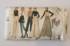 Vintage Vogue 8382- Misses Vest, skirt, Pants & Shirt - 1970s -Size 12  Complete