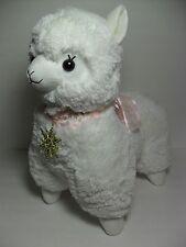 Winter Alpacasso White Girl Alpaca Gold Metallic Snowflake 45cm Plush Arpakasso