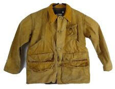 Vintage Bone Dry Redhead Canvas Duck Hunting Shooting Jacket Size 44 Distressed