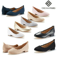 DREAM PAIRS Women's Slip On Flat Shoes Low Heel Ladies Dress Shoes