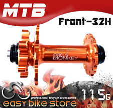 FRONT HDW 32 H * Circus Monkey HDW CNC 6 Bolt Disc MTB Hub 115g 32 Hole Orange