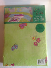 """Girls Bedroom Curtains 66""""x54"""" Lime Green Fairytale Princess Butterfly 168x137cm"""