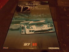 SALEEN S7 WINNER AT 12 HOURS OF SEBRING SHOWROOM FRAMED POSTER ORIGINAL RARE!!!