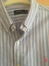Ralph Lauren Men's XL - Blue/White/Pink/Grey  with Pink Pony