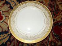 "Ber6 Limoges GOLD GREEK KEY 8 3/8"" Salad dessert PLATE Bernardaud Gold Tracery"