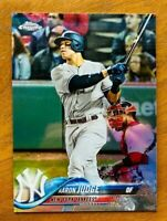 2018 Topps Chrome Aaron Judge Refractor Card #1, NY Yankees!