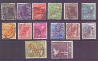 Berlin 1949 - Rotaufdruck - MiNr.21/34 gestempelt geprüft- Michel 900,00 € (139)