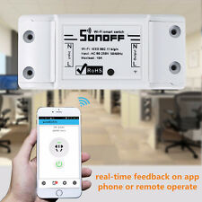 Sonoff Smart Home WiFi Wireless Switch Module Fr Apple Android APP Control CT0