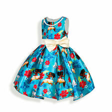 Kids Moana Princess Queen Cartoon Girl Costume Party Fancy Vintage Cosplay Dress