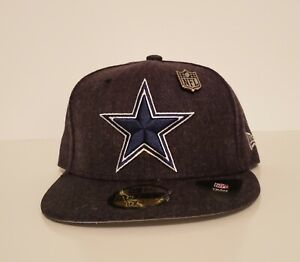 New Era 59Fifty Dallas Cowboys Heathered Pin  Fitted Dark Gray Size 7 1/2