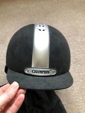 CHAMPION VENTAIR RIDING HAT SIZE 58CM - BLACK VELVET - HARDLY WORN