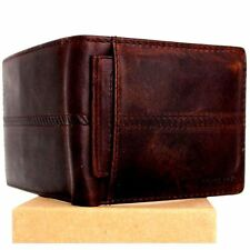 Men's Natural Leather Wallet 7 Credit Card slots 2 Bill compartments 1 window id