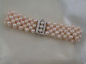 Schönes Perlenarmband aus Akoya-Zuchtperlen