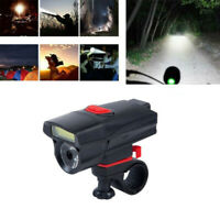 USB Rechargeable Bike Front Head Light Cycling Bicycle LED Lamp Outdoor Riding