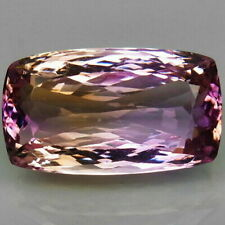 28.13 Ct. Natural Bi Color Ametrine Bolivia Cushion Unheated Gemstone for Ring