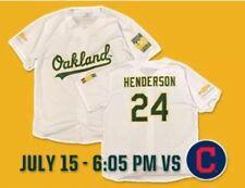 Oakland A's Ricky Henderson Jersey sz XL SGA Athletics not Bobblehead