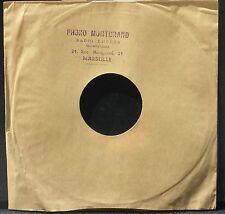 Pochette 78 trs / 78 RPM avec tampon Phono Montgrand 24 rue Montgrand Marseille