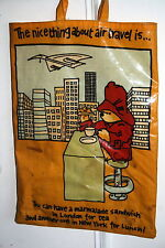 PADDINGTON BEAR BAG vintage sac à main le concorde Londres New York air travel