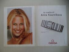 advertising Pubblicità 2001 OMEGA CONSTELLATION QUADRA e ANNA KOURNIKOVA