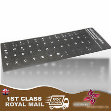 1x Germany black Transparent Keyboard Stickers With White Letter Laptop Computer