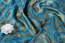 WHOLESALE! ORIENTAL SILK DAMASK JACQUARD BROCADE FABRIC TAPESTRY: PEACOCK TAIL