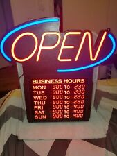 e-onsale L30 Ultra Bright Led Open Sign with business hours