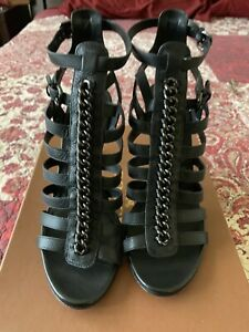 Coach Shoes Size 11M Jewels Sft Milled Leather Black Color A9242 With Box