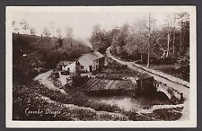 Postcard Coombe Dingle near Bristol Avon cottages posted 1909 RP Harvey Barton