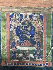 Mongolian Buddhist  Tsakli Thangka  painting  Mongolia 20x28