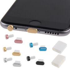 4in1 Auricular de Metal Jack & Anti Dust Plug Gorra de puerto del cargador + almacenamientos para iPhone
