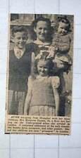 1949 Mrs Margaret Gasten Escaped From Shanghai With Three Children
