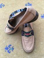 Gucci Womens Shoes Brown Canvas Horsebit Loafer UK 4.5 US 6.5 EU 37.5 Ladies Web