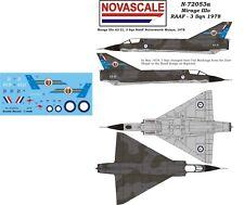 RAAF Mirage IIIo Mini-Set Decals 1/72 Scale N72053a