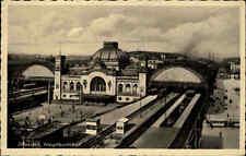DRESDEN Sachsen ~1930 alte Postkarte Bahnhof Hauptbahnhof Railway Station AK