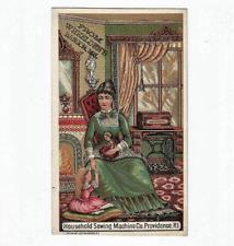 Antique Trade Card Household Sewing Machine Co Providence RI Wheelden Bangor Me