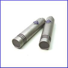 pair of NEUMANN KM84 vintage small diaphragm cardioid condenser microphones +XLR