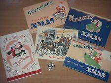 VINTAGE CHRISTMAS CARDS.  CHOOSE 5 DESIGNS