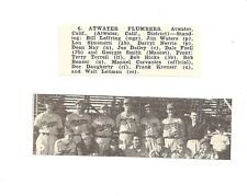 Atwater Plumbers California 1953 Baseball Team Picture
